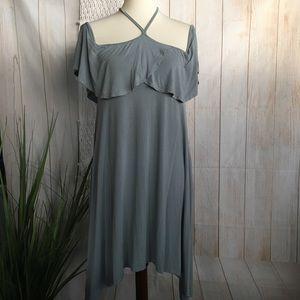 Blu Heaven | Cold Shoulder Mid-length Dress 👗